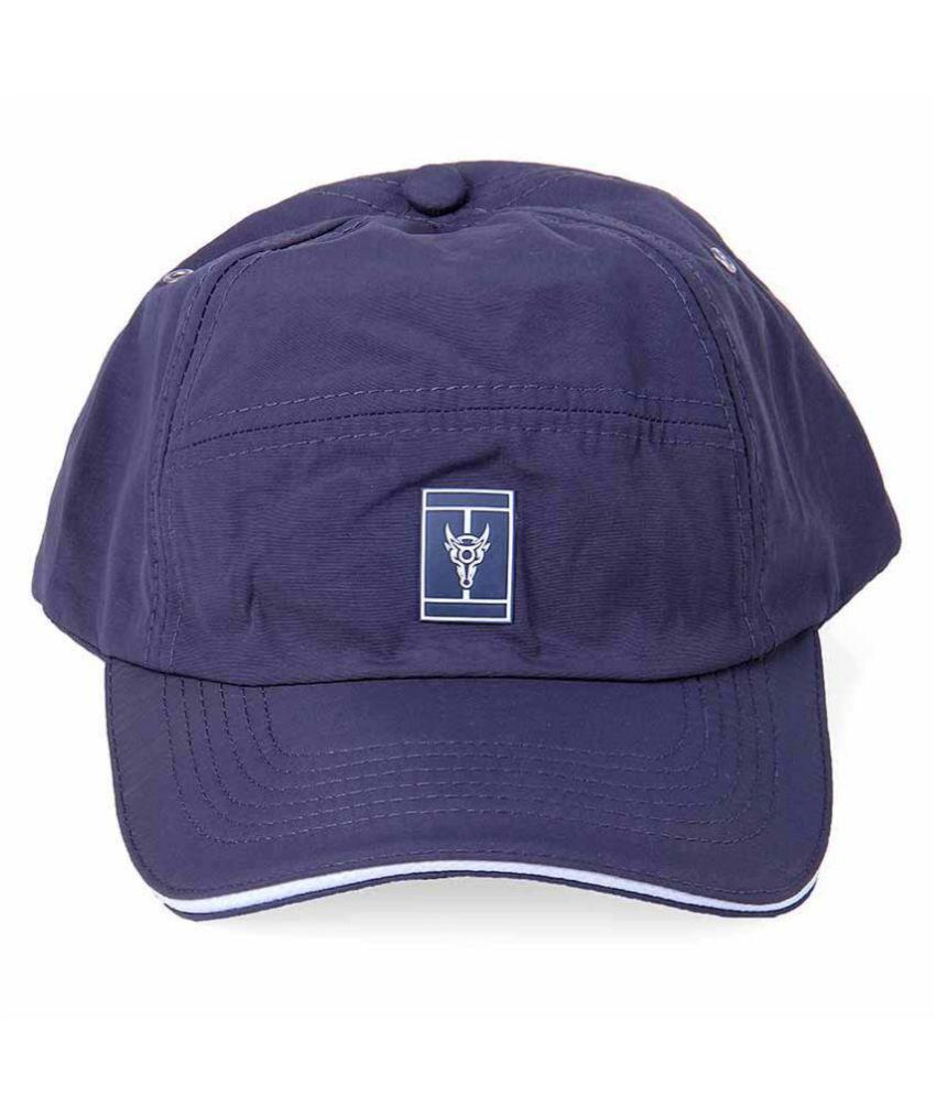 Black Buck Purple Plain Cotton Caps