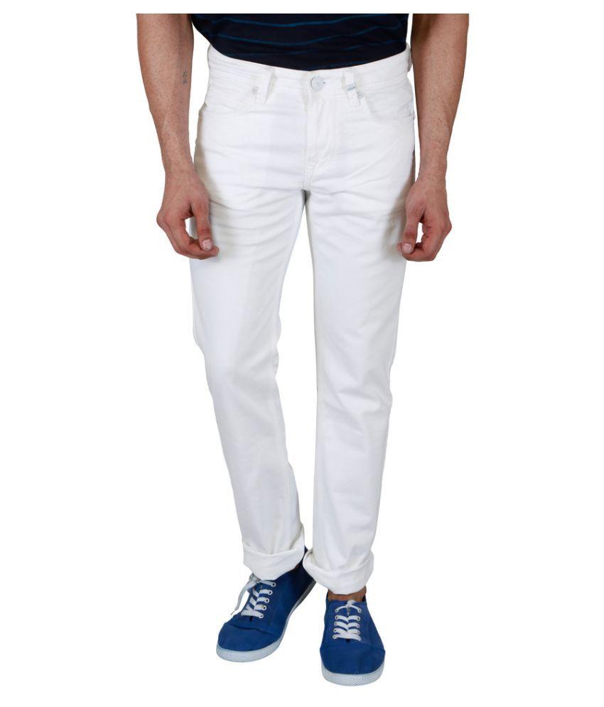 Killer White Slim Solid Jeans