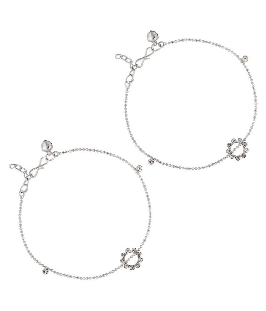 The Luxor Silver Pair of Anklets