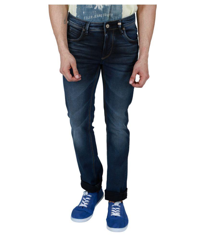 Killer Blue Skinny Faded Jeans
