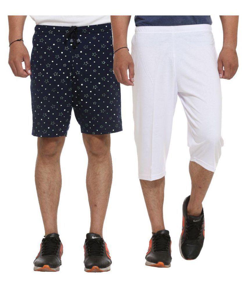 Vimal Jonney Multi Shorts Pack of 2