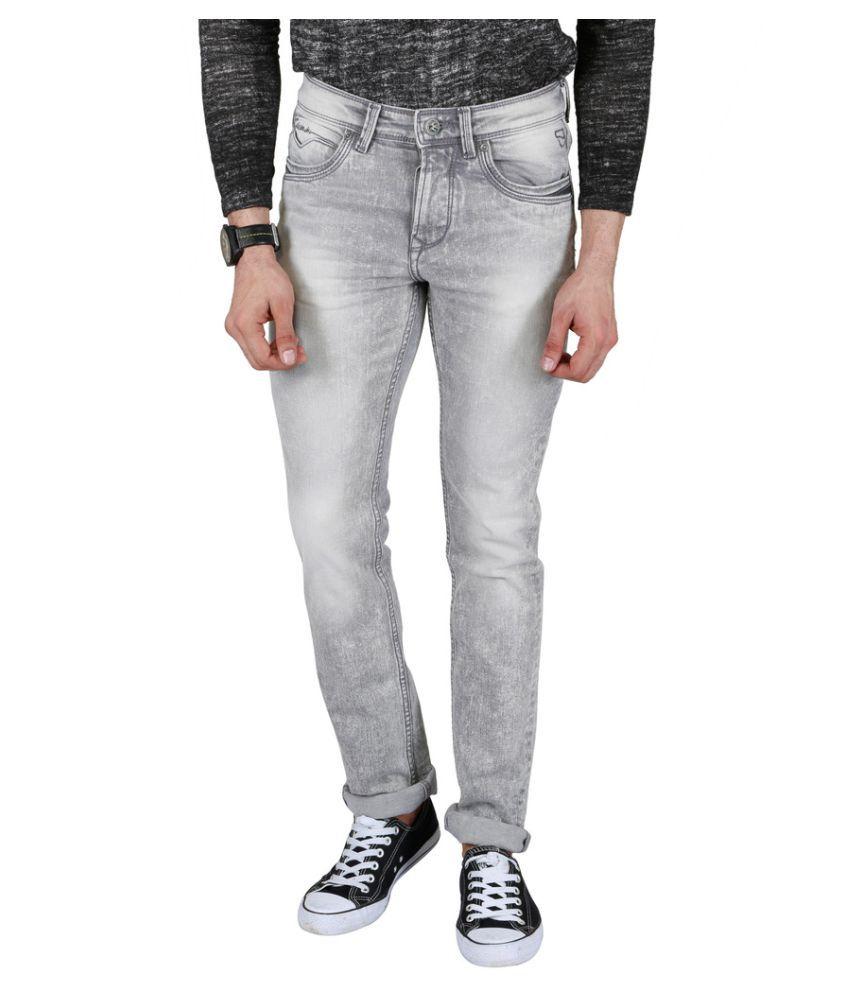 Killer Grey Skinny Washed Jeans