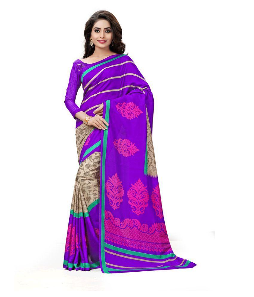AJS Purple Art Silk Saree