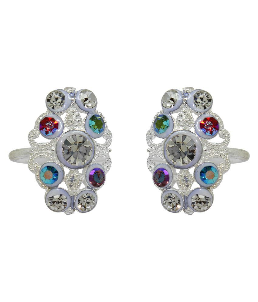 Raj Multicolour Toe Ring