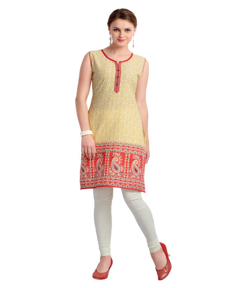 Zola Multicoloured Cotton Straight Kurti