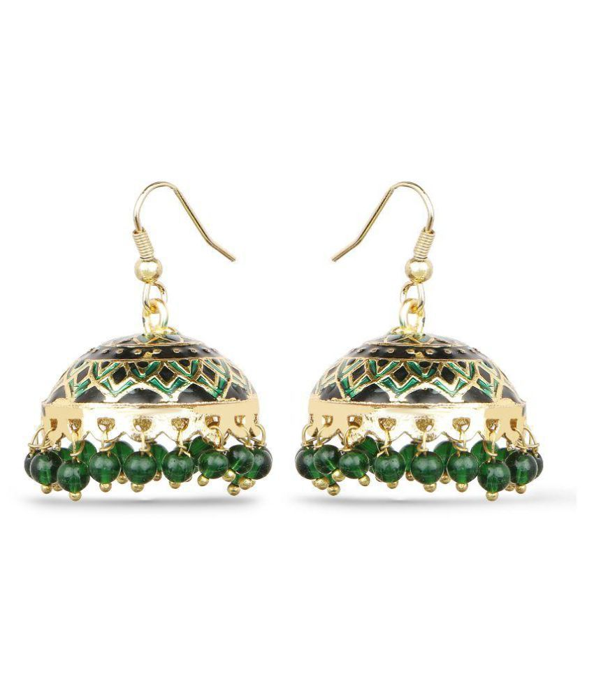 Johareez Green Jhumki