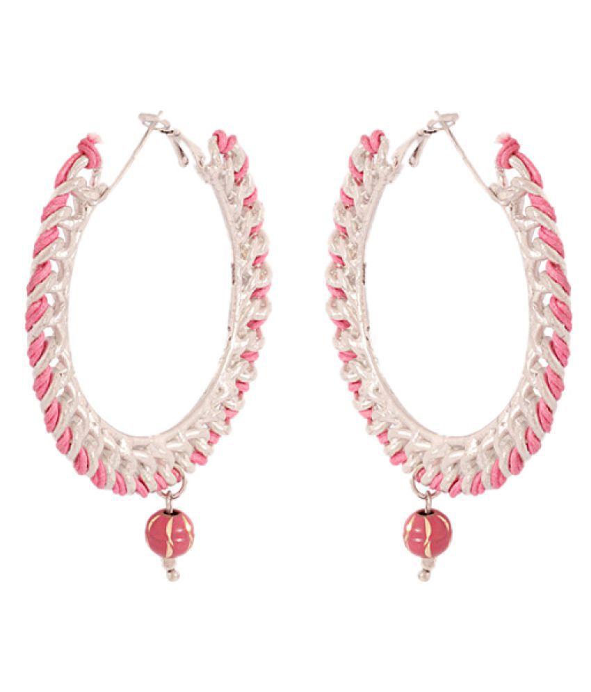Voylla Pink Earrings