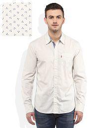 Levis White Regular Fit Shirt