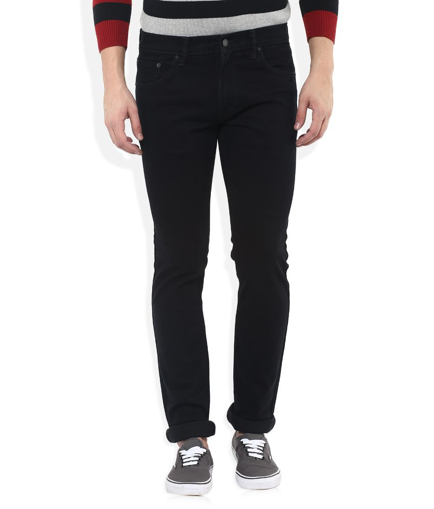 Levis Black 65504 Skinny Fit Jeans