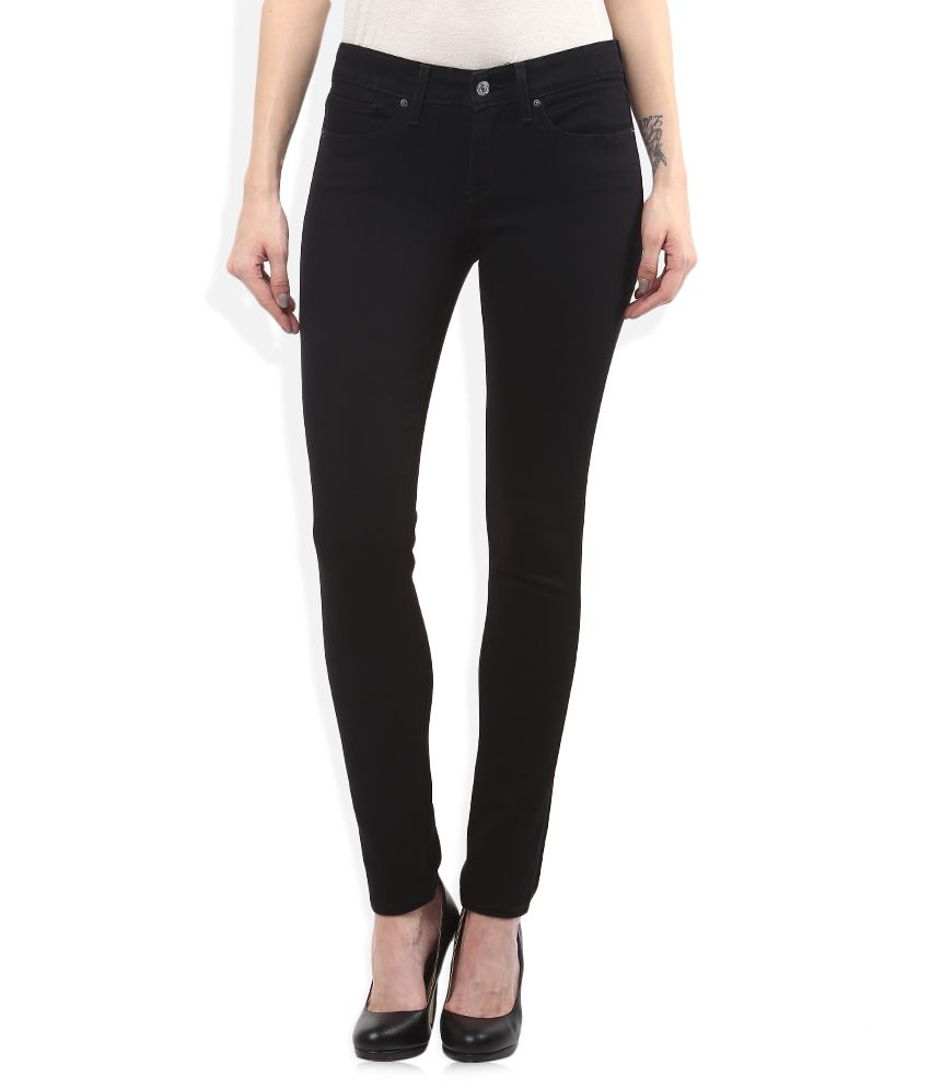 36c5291b48e Buy Levis Black 711 Skinny Fit Jeans Online at Best Prices in India -  Snapdeal