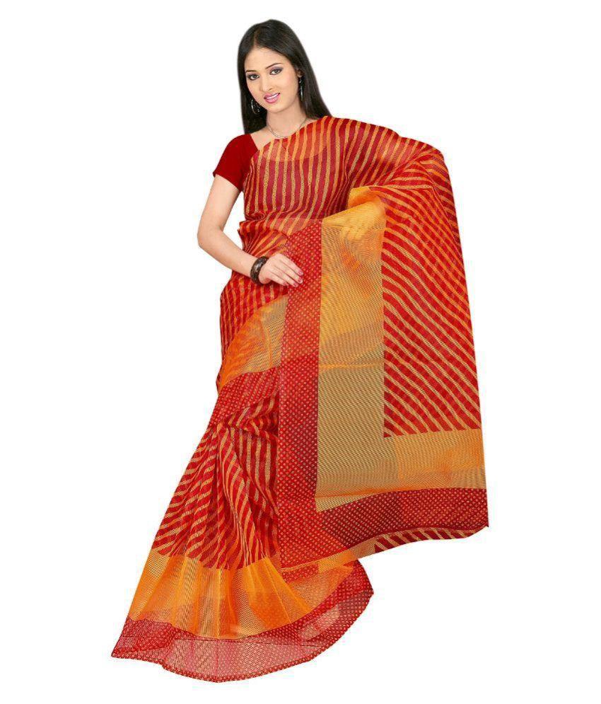 Kabira Red Cotton Saree