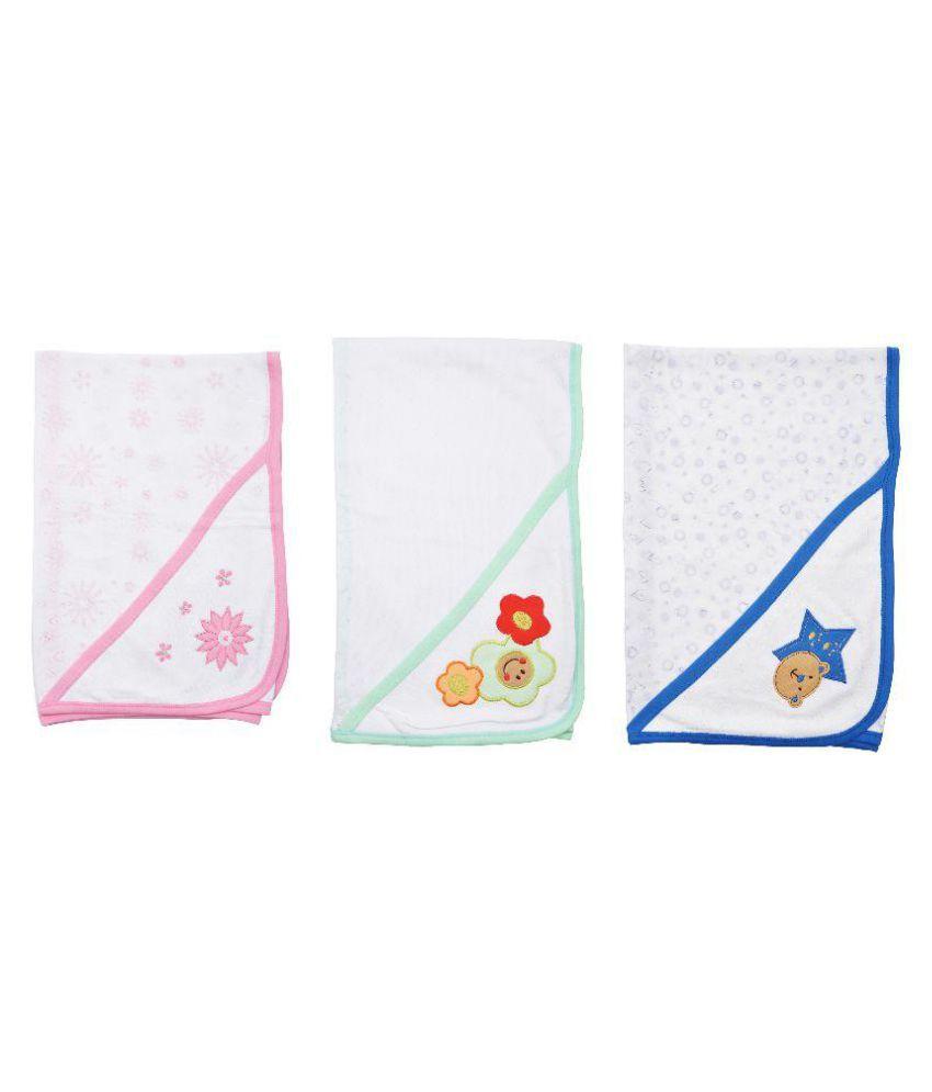 Kandyfloss Multi-Colour Cotton Baby Wrap cum blanket ( 85 cm × 80 cm - 3 pcs)