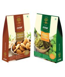 OOSH OOSH Premium Almond Kernel & Raisin Regular Almond (Badam) 500 Gm Pack Of 2