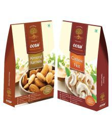 OOSH OOSH Premium Almond Kernel & Cashew Regular Almond (Badam) Natural 450 Gm Pack Of 2