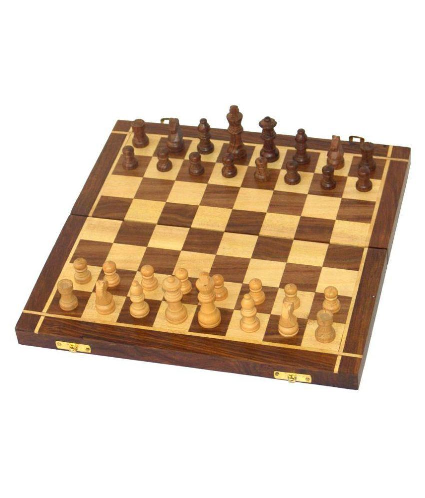 Desi Karigar Wooden Handmade Chess Board Game
