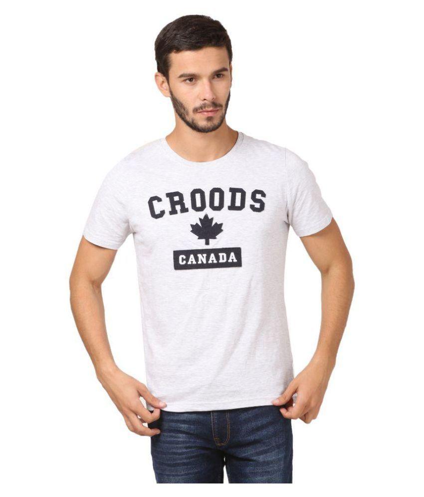 Croods White Round T-Shirt
