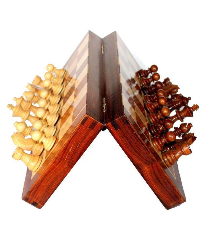 Desi Karigar Multicolour Folding Wooden Chess Board