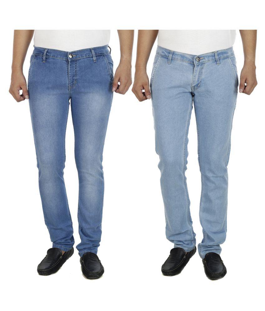 AtLast Blue Slim Faded Jeans - Pack of 2