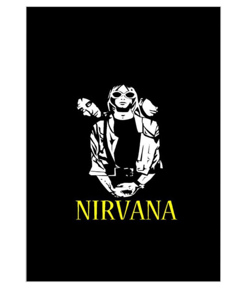 ULTA ANDA Nirvana Black White A4 Non Tearable Paper Art Prints Without Frame Single Piece