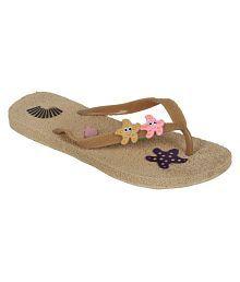 Alkawal Brown Slippers