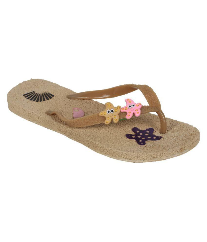 Alkawal Brown Slippers