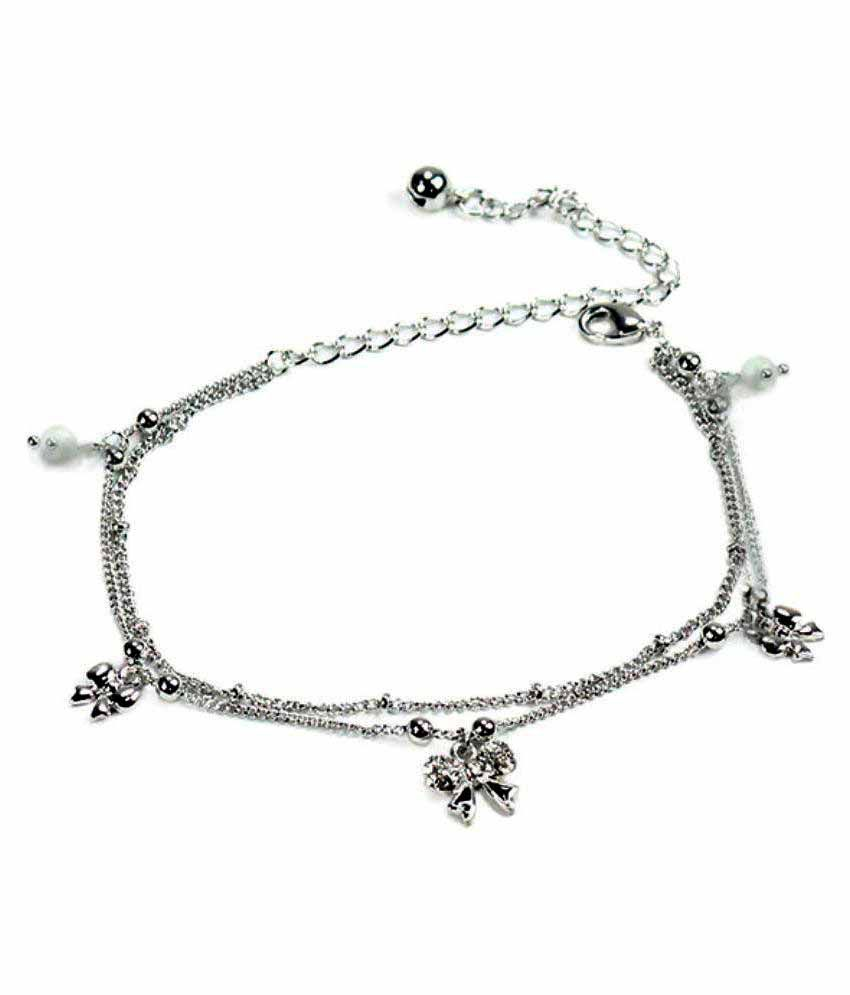 Archies Limited Silver Anklet