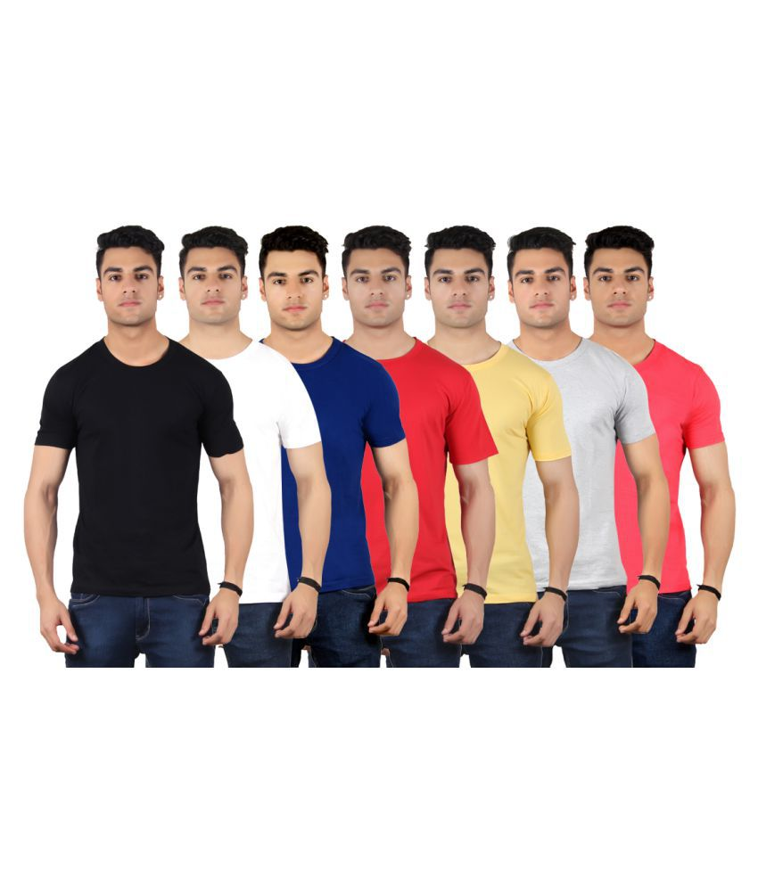 Diaz Multi Round T-Shirt Pack of 7