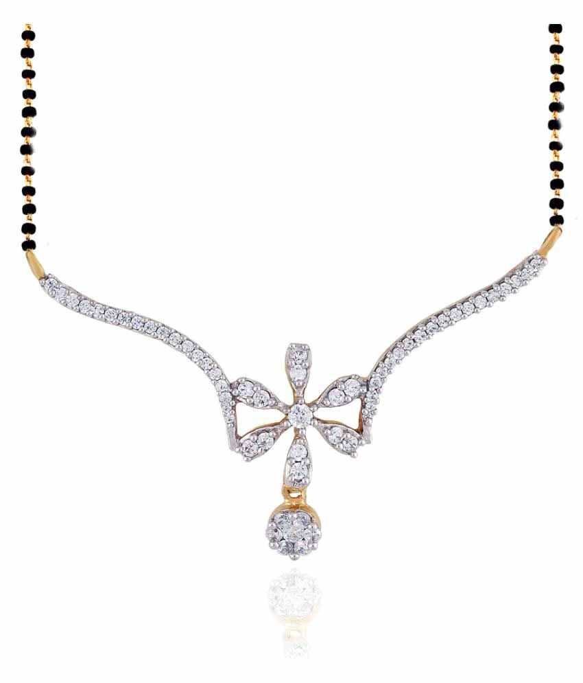 Nirvana 18k Yellow Gold Diamond Mangalsutra