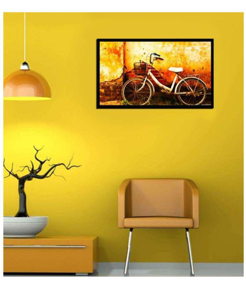 VPH Vintage cycle Wood Art Prints With Frame Single Piece