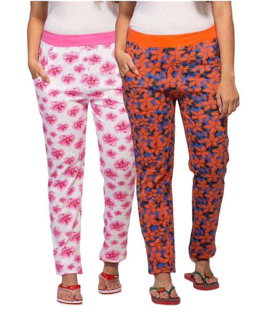 Honey Girls Multi Color Cotton Pajamas