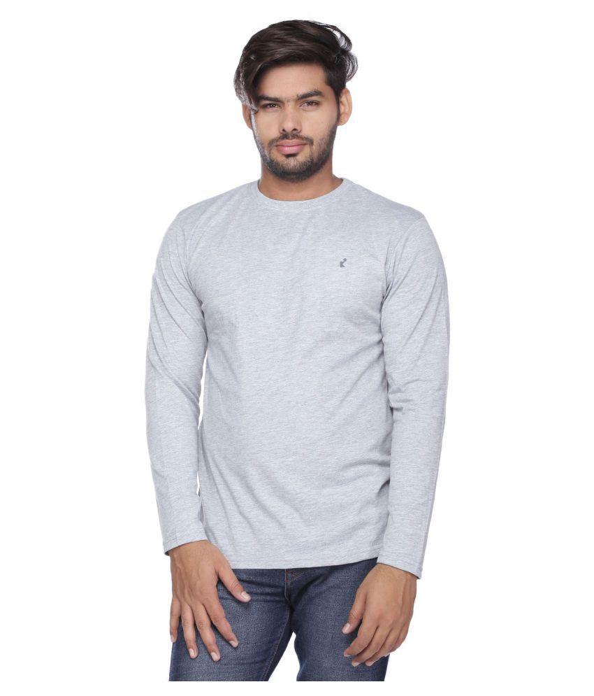 Vishal Mega Mart Grey Round T-Shirt