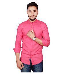 Duenite Pink Casuals Slim Fit Shirt