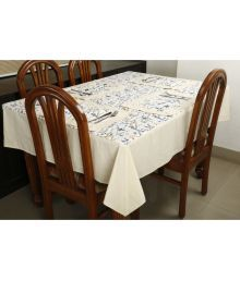 Dekor World 8 Seater Cotton Set Of 9 Table Cover & Table Mats