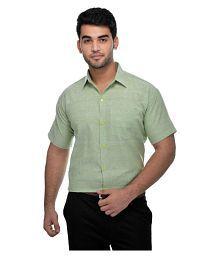Khadi Green Formal Regular Fit Shirt
