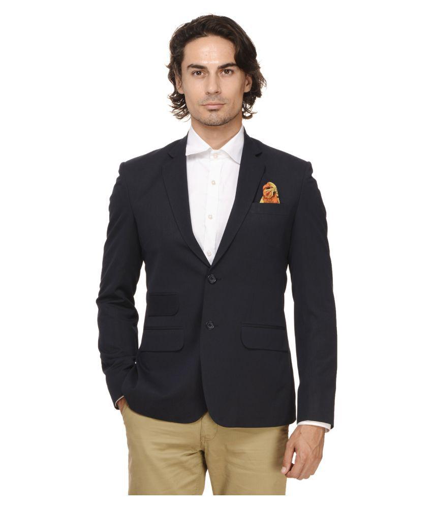 Ennoble Black Solid Casual Tuxedo