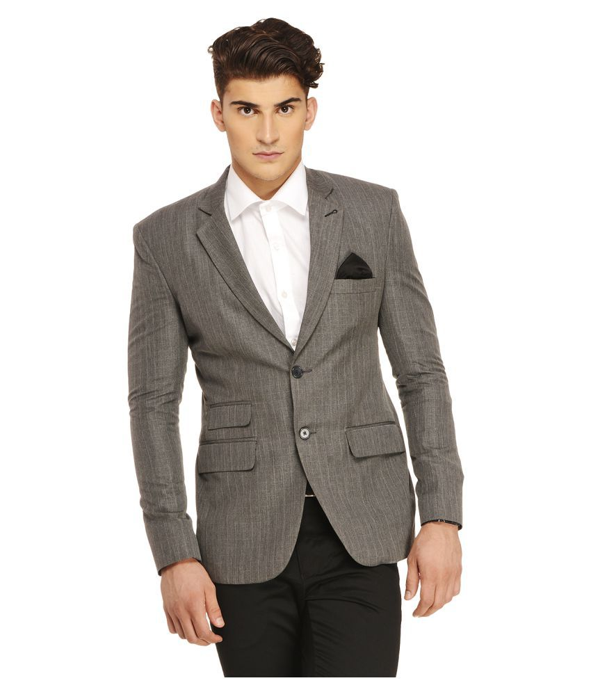 Ennoble Grey Checks Casual 2 Piece Suits