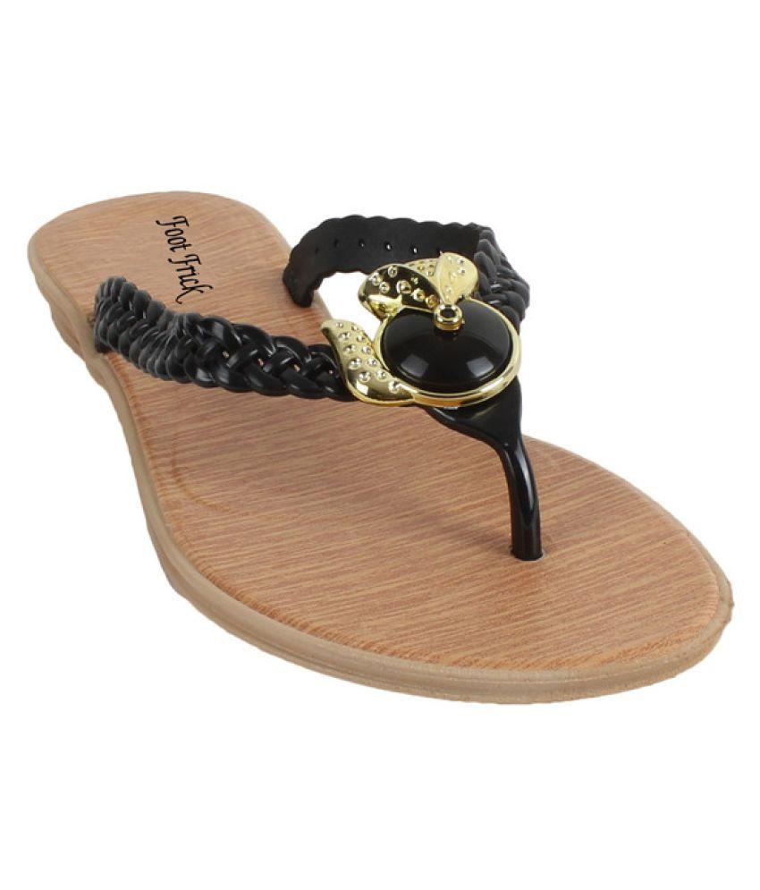 Foot Frick Black Slippers