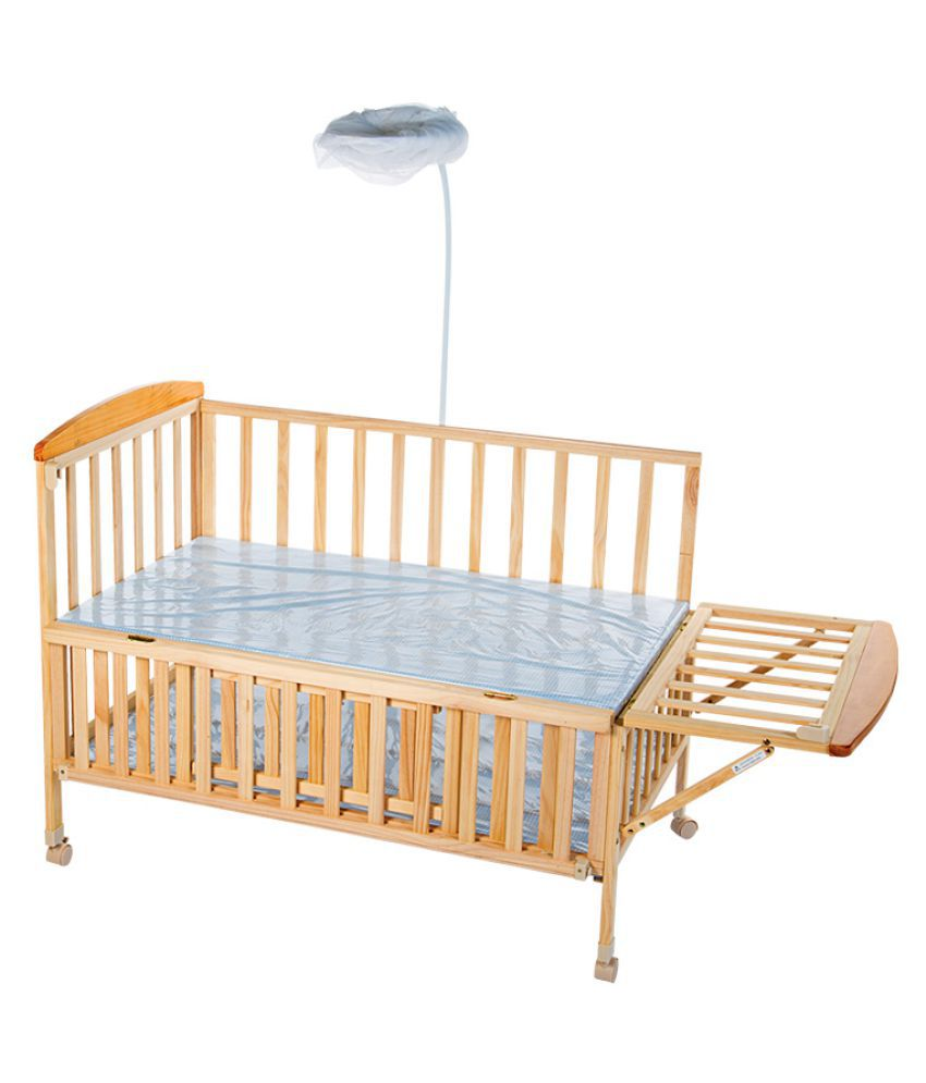 mee mee baby wooden cot with swing mosquito net buy mee mee baby