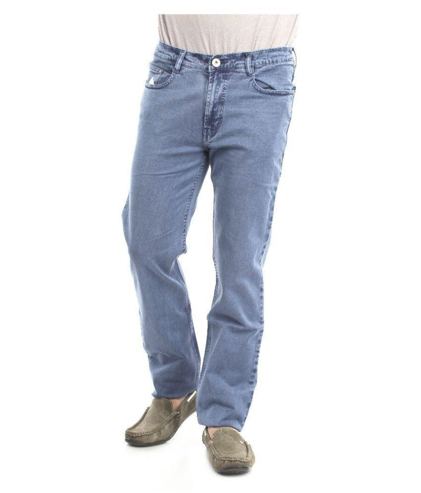 Thunder Blue Regular Fit Solid Jeans