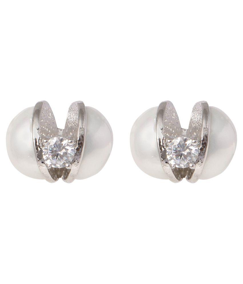 Dadu Diamonds Silver Stud Earring