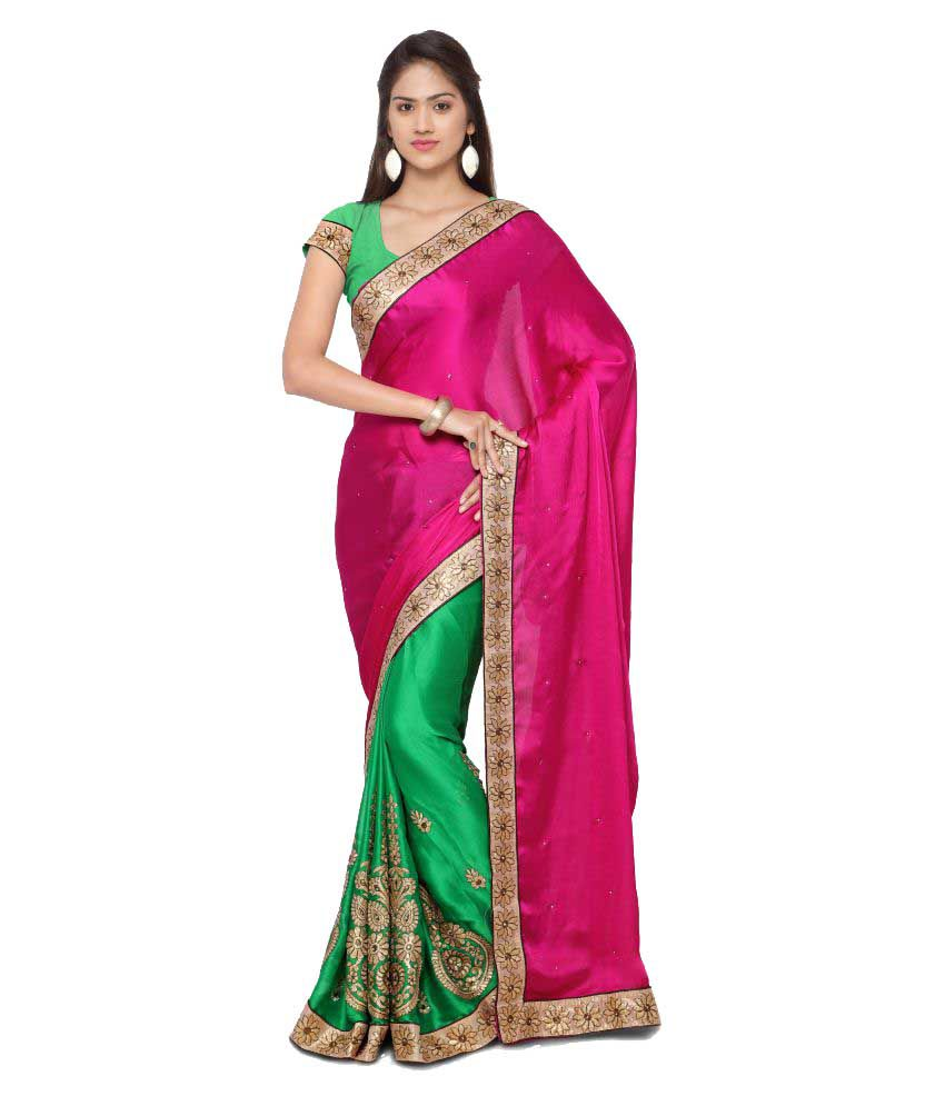 Khazana Bazaar Multicoloured Synthetic Saree
