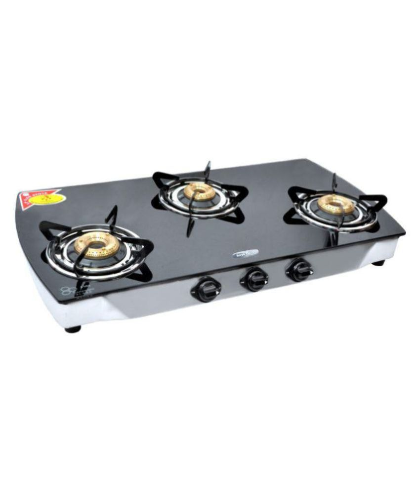 Surya Crystal Max Manual Ignition Gas Cooktop (3 Burner)