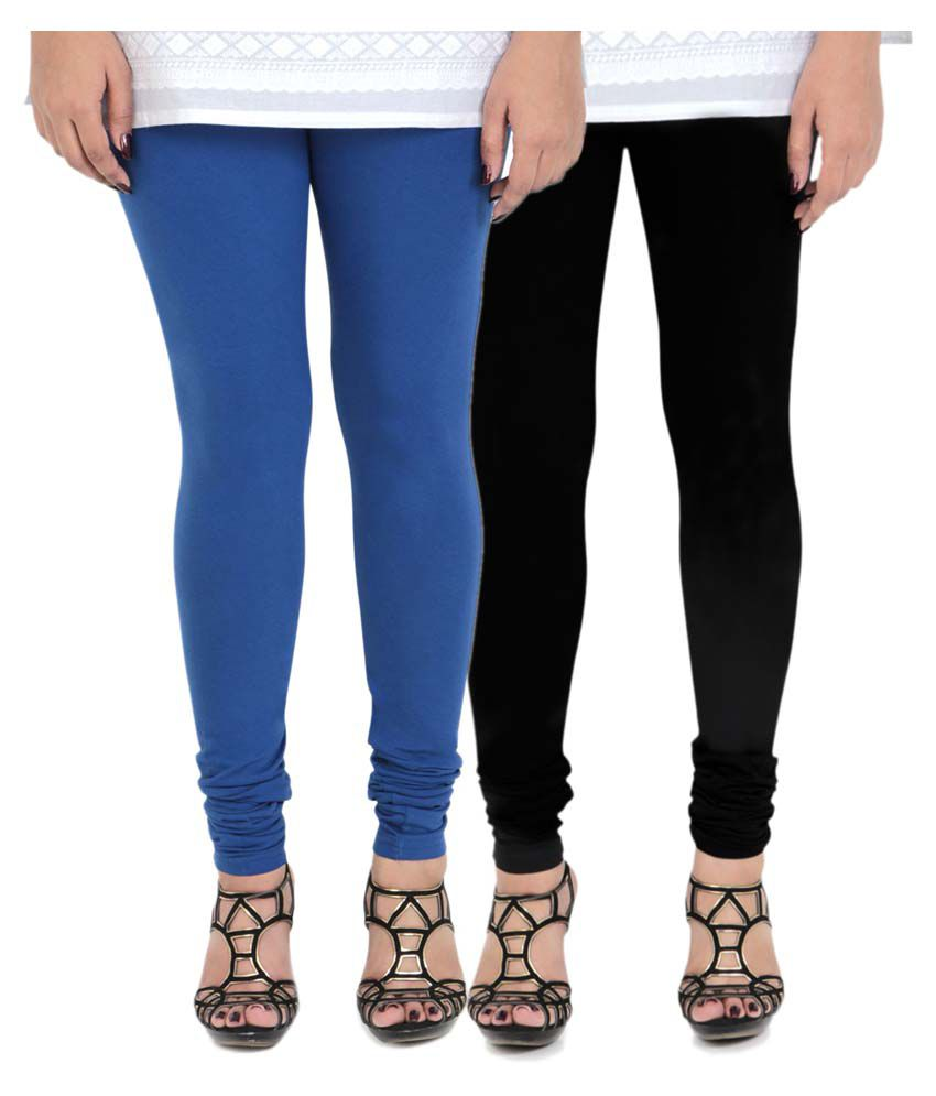 Vami Cotton Lycra Pack of 2 Leggings