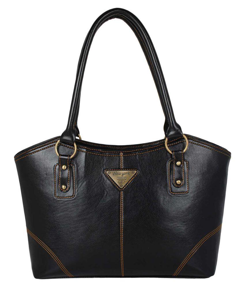 Supreme Culture Black P.U. Shoulder Bag
