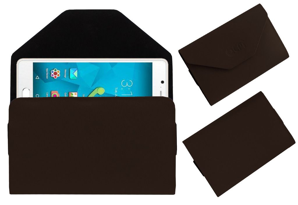 Micromax Unite 4 Pouch By ACM Brown