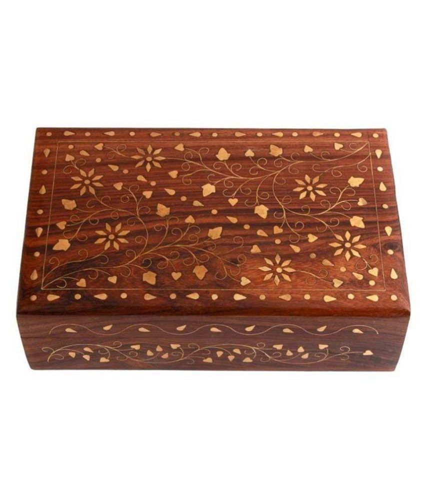 iKashan Brown Wooden Jewellery Box