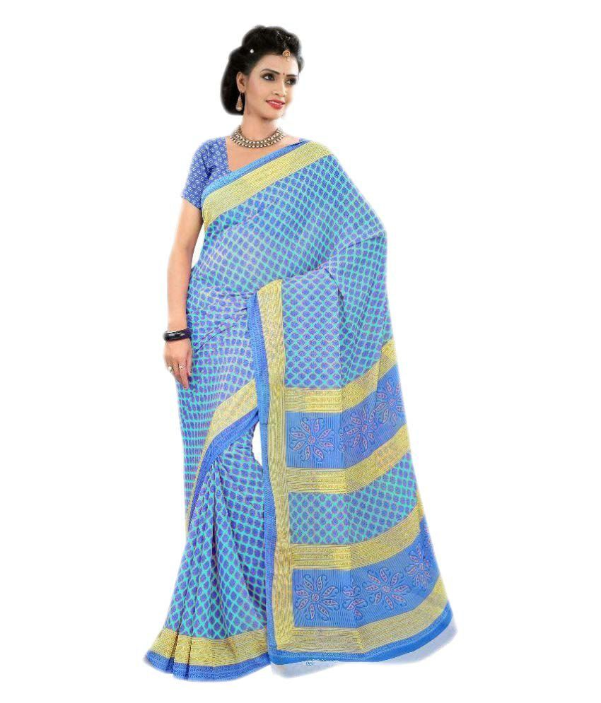 Shopo World Multicoloured Chiffon Saree