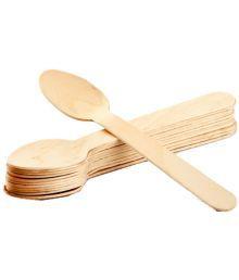 Ezee Wooden Dinner Spoon - 50 Pieces