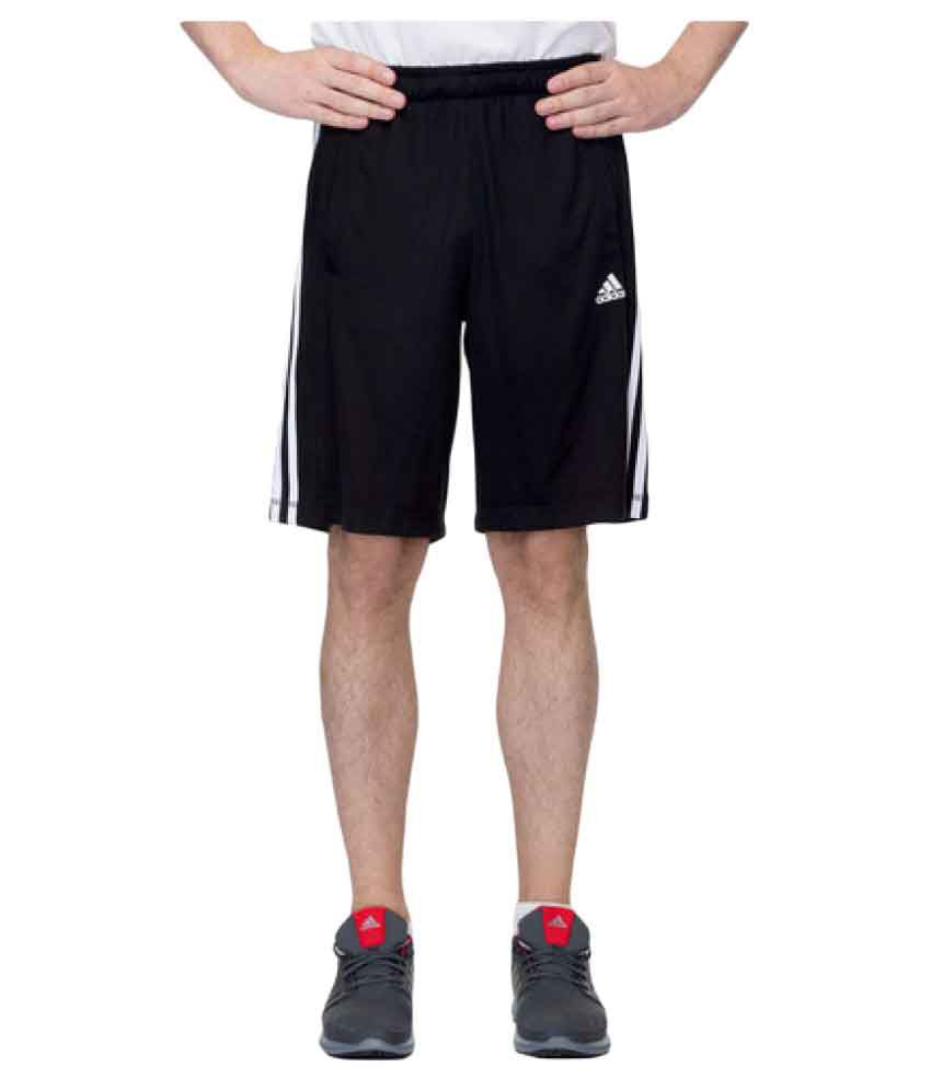 Adidas Black Polyester Shorts