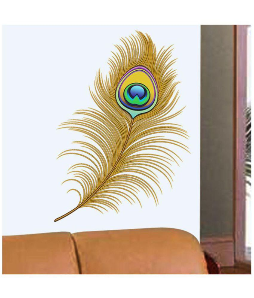 Wall Dreams Peacock Feather PVC Wall Stickers